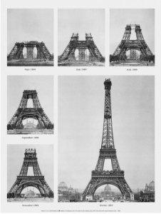 Etapas da construção da torre